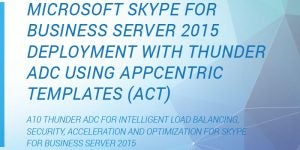 Microsoft Skype for Business Server 2015 Deployment with Thunder ADC using AppCentric Templates (ACT)
