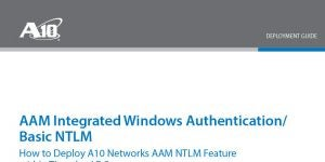 AAM NTLM Authentication with Thunder ADC Deployment Guide