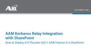 AAM Kerberos Relay Authentication with Thunder ADC in SharePoint Environment
