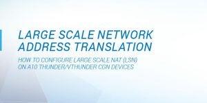 Large Scale Network Address Translation Deployment Guide