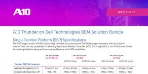 A10 Thunder on Dell Technologies OEM Solution Bundle Specification Sheet