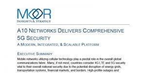 A10 Networks Delivers Comprehensive 5G Security