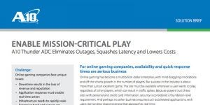 Online Gaming: Enable Mission-critical Play
