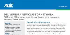 Higher Education: Delivering a New Class of Network