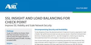 SSL Insight and Load Balancing for Check Point