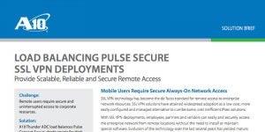 Load Balancing Pulse Secure SSL VPN Deployments