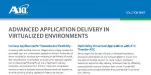 Advanced Application Delivery in Virtualized Environments