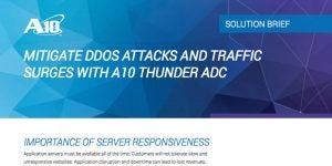 Mitigate DDoS Attacks and Traffic Surges with Thunder ADC