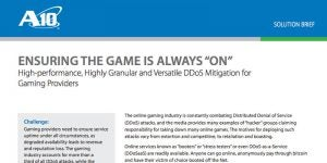 High-performance, Highly Granular and Versatile DDoS Mitigation for Gaming Providers