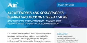 A10 Networks and Secureworks: Eliminating Modern Cyberattacks