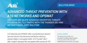 Advanced Threat Prevention with A10 Networks and OPSWAT