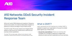 A10 Networks DDoS Security Incident Response Team