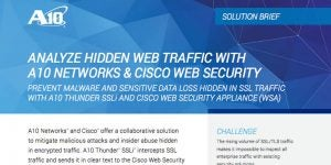 Analyze Hidden Web Traffic with A10 Networks & Cisco Web Security