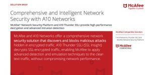 Comprehensive and Intelligent Network Security with A10 Networks