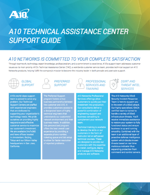 A10 technical assistance center support guide brochure publicscrutiny Choice Image