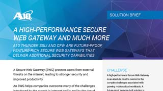 A High-Performance Secure Web Gateway and Much More Solution Brief