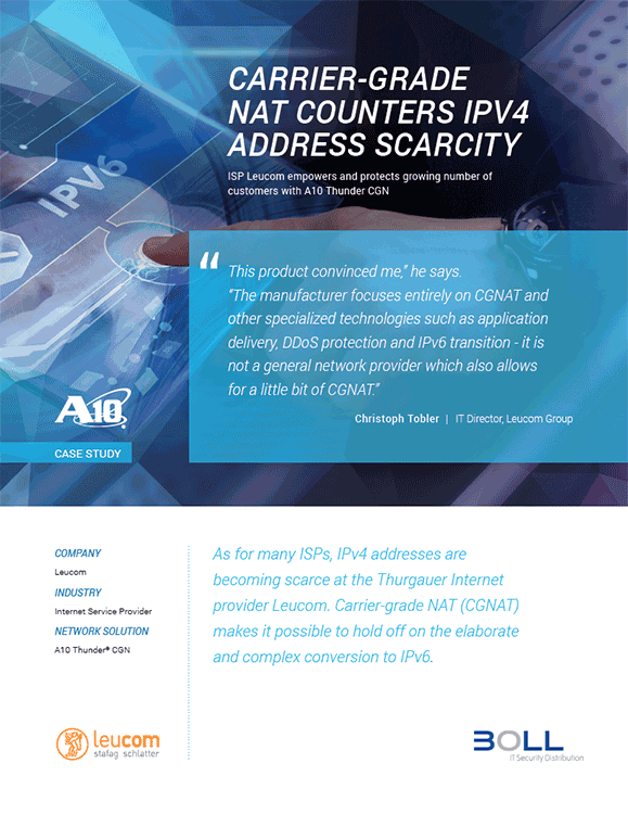 Leucom Group Case Study, Carrier-Grade NAT Counters IPv4 Address Scarcity