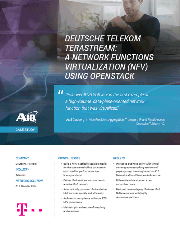 Deutsche Telekom Case Study, Network Functions Virtualization (NFV) Using OpenStack