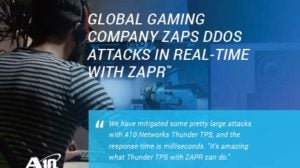 Global Gaming Company ZAPS DDoS Attacks in Real-Time with ZAPR