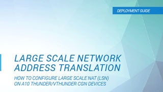 Large Scale Network Address Translation (NAT LSN) Deployment Guide