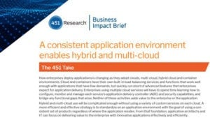 Consistent Application Environment Enables Hybrid and Multi-Cloud