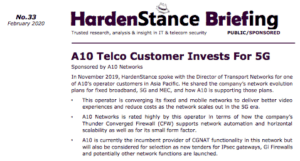 Hardenstance Briefing: A10 Telco Customer Invests For 5G Report