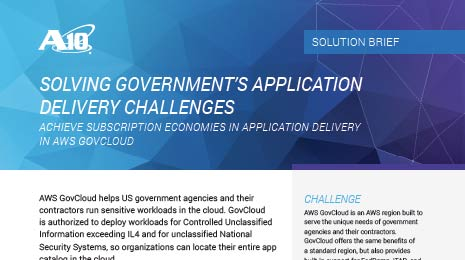 Solving Government's Application Delivery Challenges