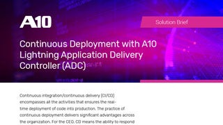 Continuous Deployment with A10 Lightning Application Delivery Controller Solution Brief