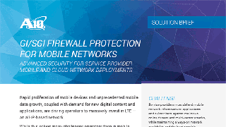 Gi/SGi Firewall Protection for Mobile Networks Solution Brief