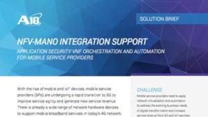 NFV-MANO Integration Support Solution Brief