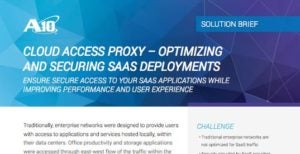 Cloud Access Proxy – Optimizing and Securing SaaS Deployments