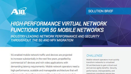 High-Performance Virtual Network Functions for 5G Mobile Networks Solution Brief