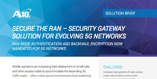 Secure the RAN – Security Gateway Solution for Evolving 5G Networks Solution Brief