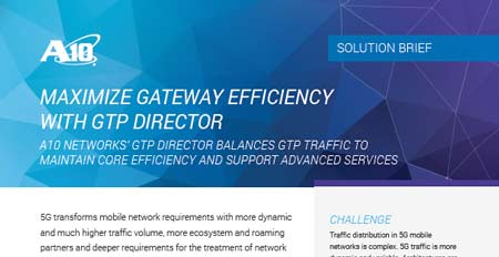 Maximize Gateway Efficiency with GTP Director Solution Brief