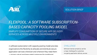 FlexPool: Software Subscription Based Capacity Pooling License Model