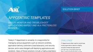 AppCentric Templates Solution Brief