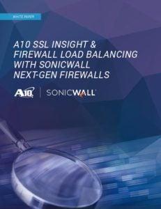 A10 Networks SSL Insight & Firewall Load Balancing with SonicWall Next-Gen Firewalls