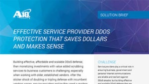 Effective Service Provider DDoS Protection That Saves Dollars and Makes Sense Solution Brief