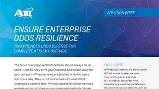 Ensure Enterprise DDoS Resilience