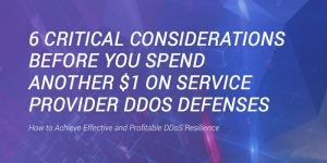 6 Critical Considerations Before You Spend Another $1 on Service Provider DDoS Defenses