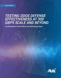 Testing DDoS Defense Effectiveness at 300GBPS Scale and Beyind