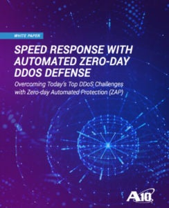 Speed Response with Automated Zero-day DDoS Defense White Paper