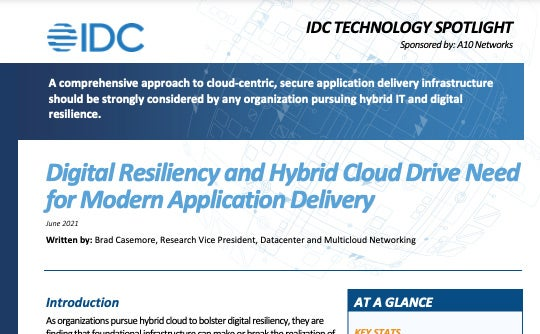 Digital Resiliency and Hybrid Cloud Drive Need for Modern Application Delivery