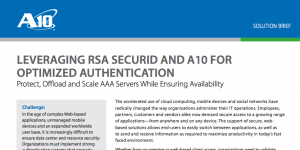 RSA SecurID and A10 Thunder ADC Application Access Management (AAM)