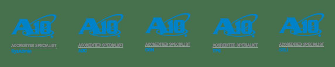 A10 Accreditation logos