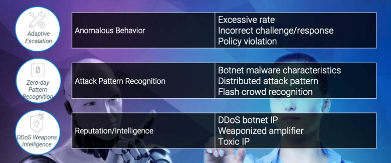 Adaptive Escalation, Zero-day Pattern Recognition, DDoS Weapons INtelligence