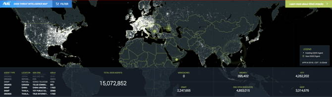 New DDoS Threat Intelligence Map from A10 | A10 Networks Ddos Map on