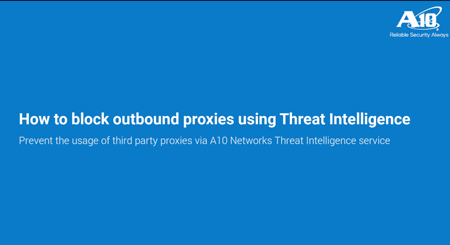 block outbound traffic to proxies using ssl insight threat intelligence