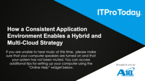 How to Boost Application Delivery Consistency in a Multi-cloud World