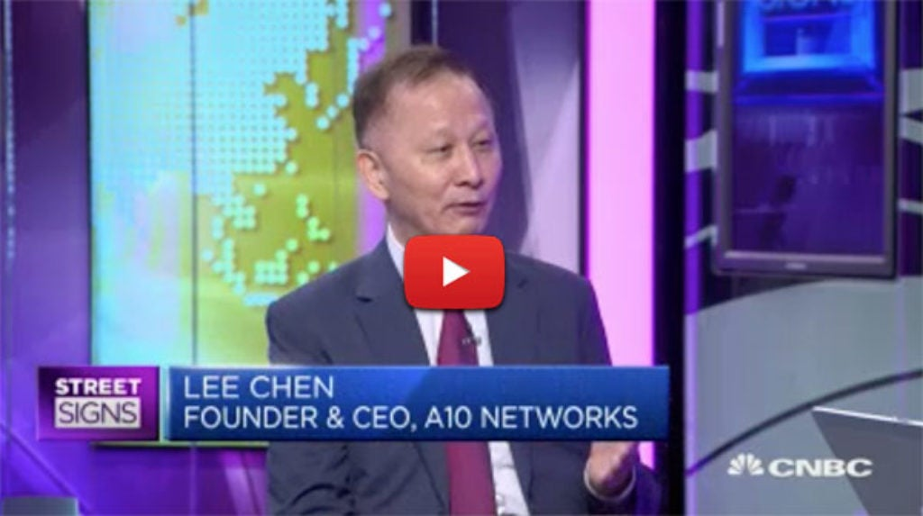 A10 CEO Lee Chen on CNBC